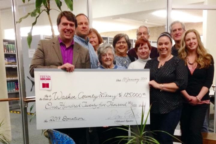 Library Director Jeff Scott With Members Of The Board Trustees And Friends Washoe County Directors