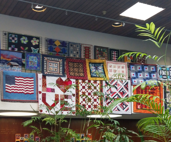 quilts at Downtown Reno Library