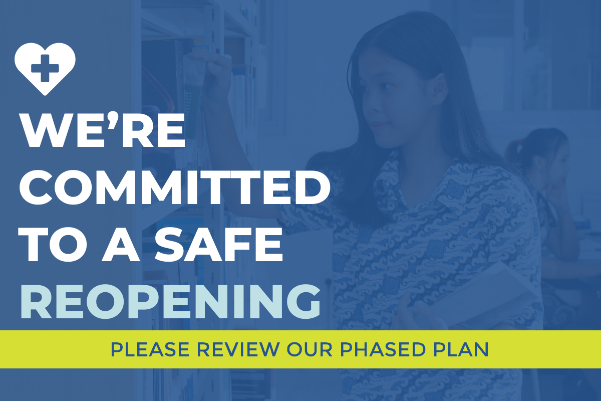 We're committed to a safe reopening.